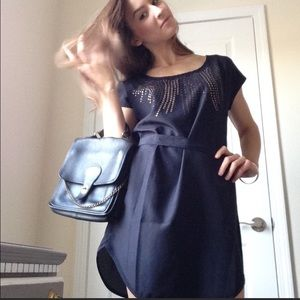 Saks fifth avenue 5|48 brand navy blue dress